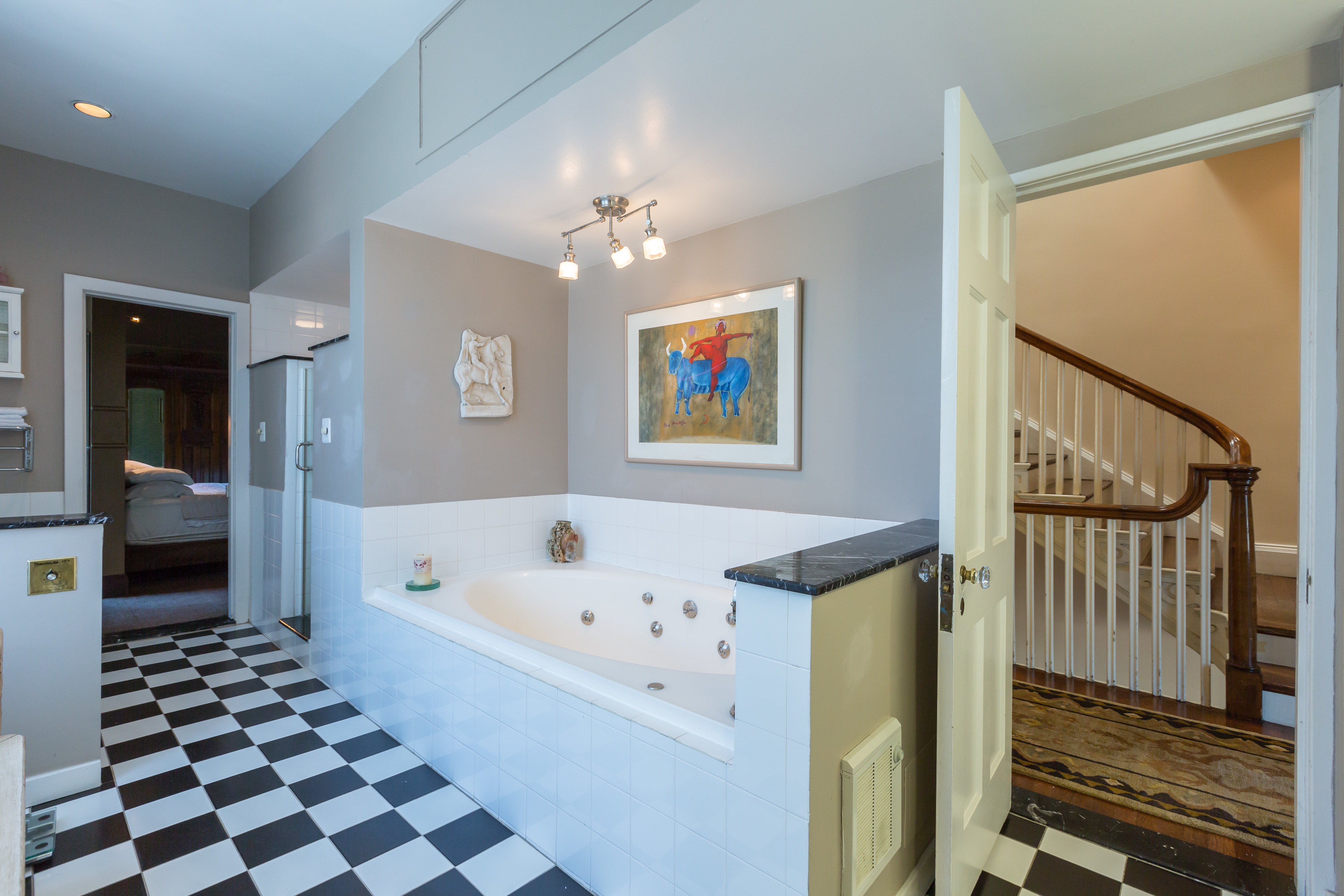 lavish nearly 125 year old townhome lists for 2 25m by meridian in the rear of the home there is a spacious courtyard with what looks like a garden a one car attached garage is included according to redfin this