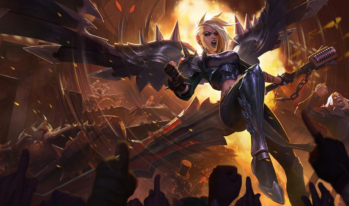 Pentakill Kayle Lol Skin on sound patch