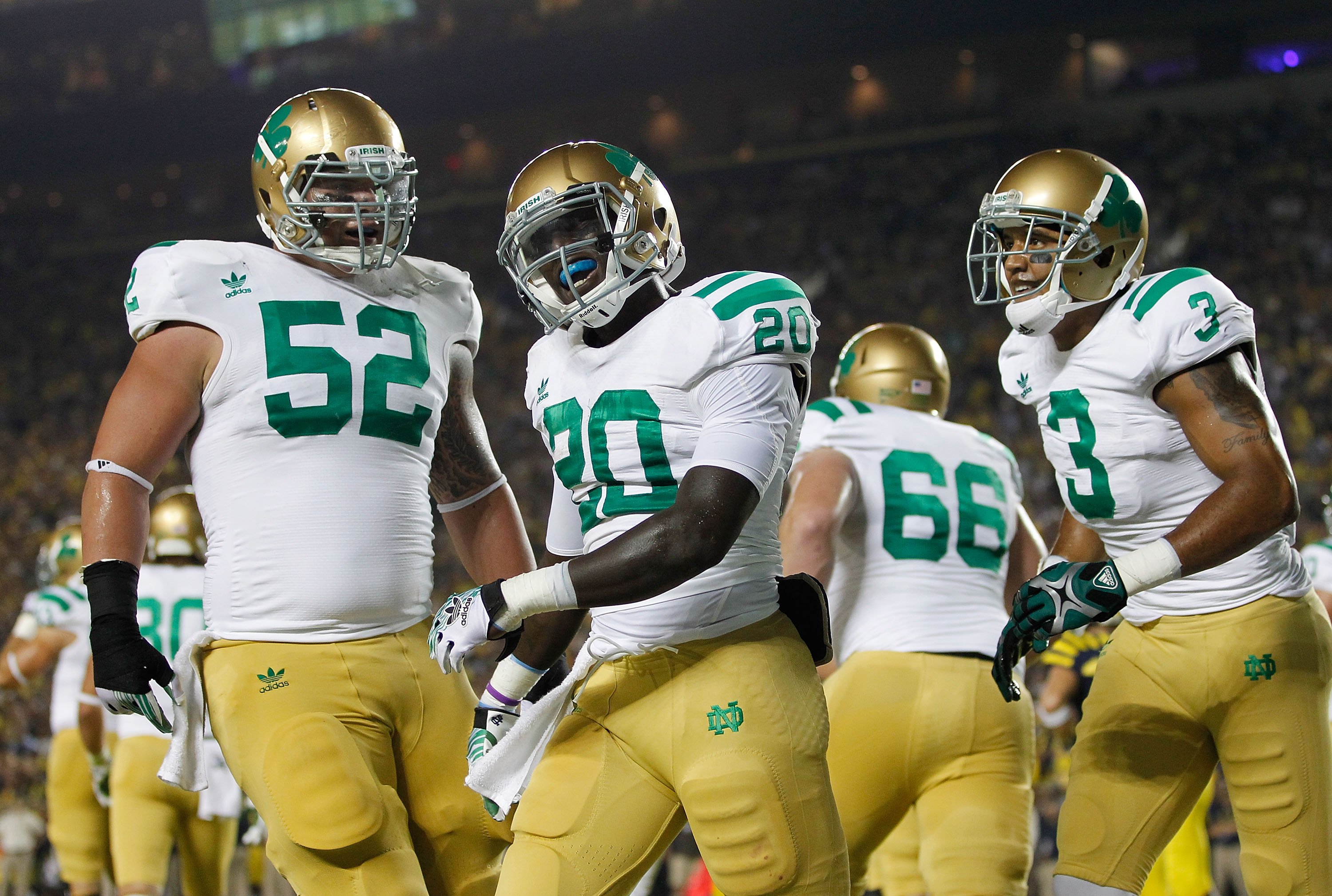 The 2007 Notre Dame Football Season Those Beautiful Green Jerseys