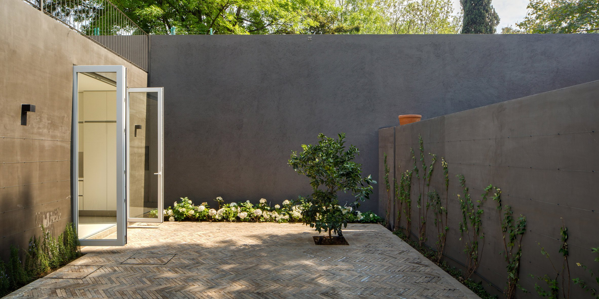 Modern concrete home in Mexico City unfurls around two ...