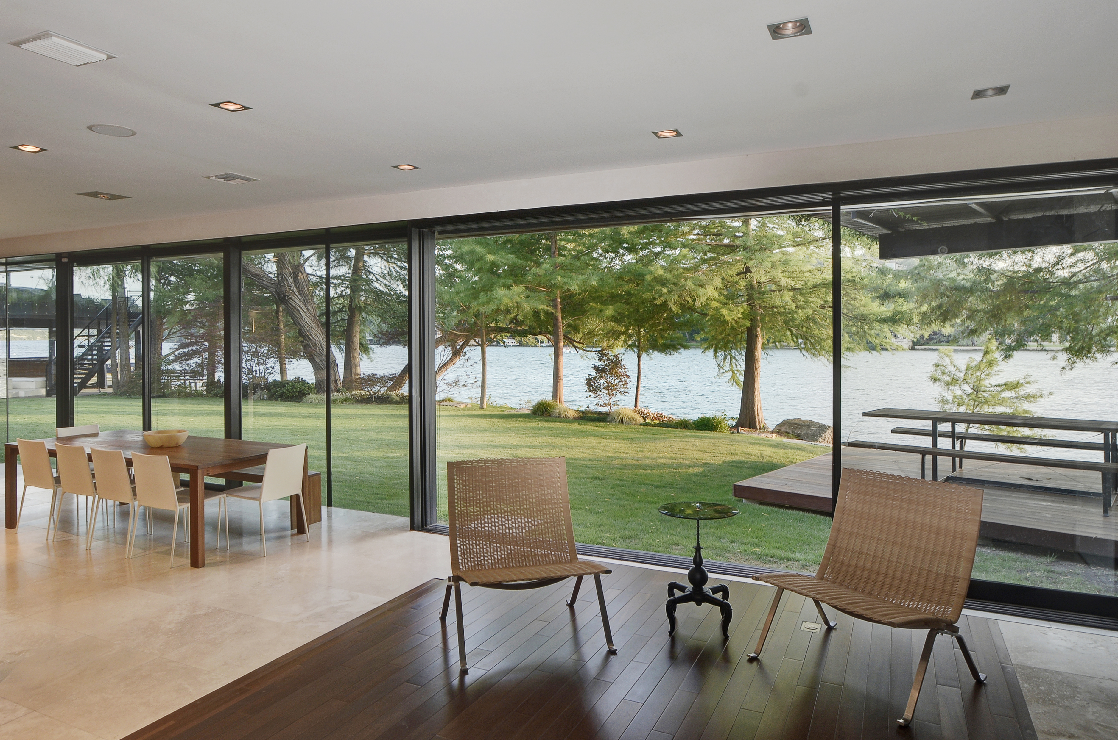gorgeous lakeside contemporary asks 10 3m curbed austin the home also features a media room and a playroom a library and a rooftop garden as well as one for growing edible plants there s also a formal office