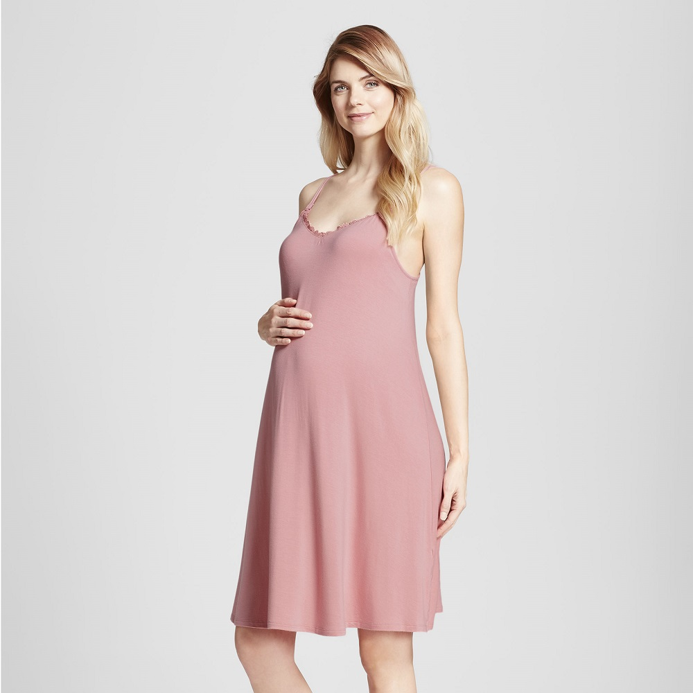 Targets new maternity clothes look nothing like maternity a pregnant woman in a slip dress ombrellifo Images