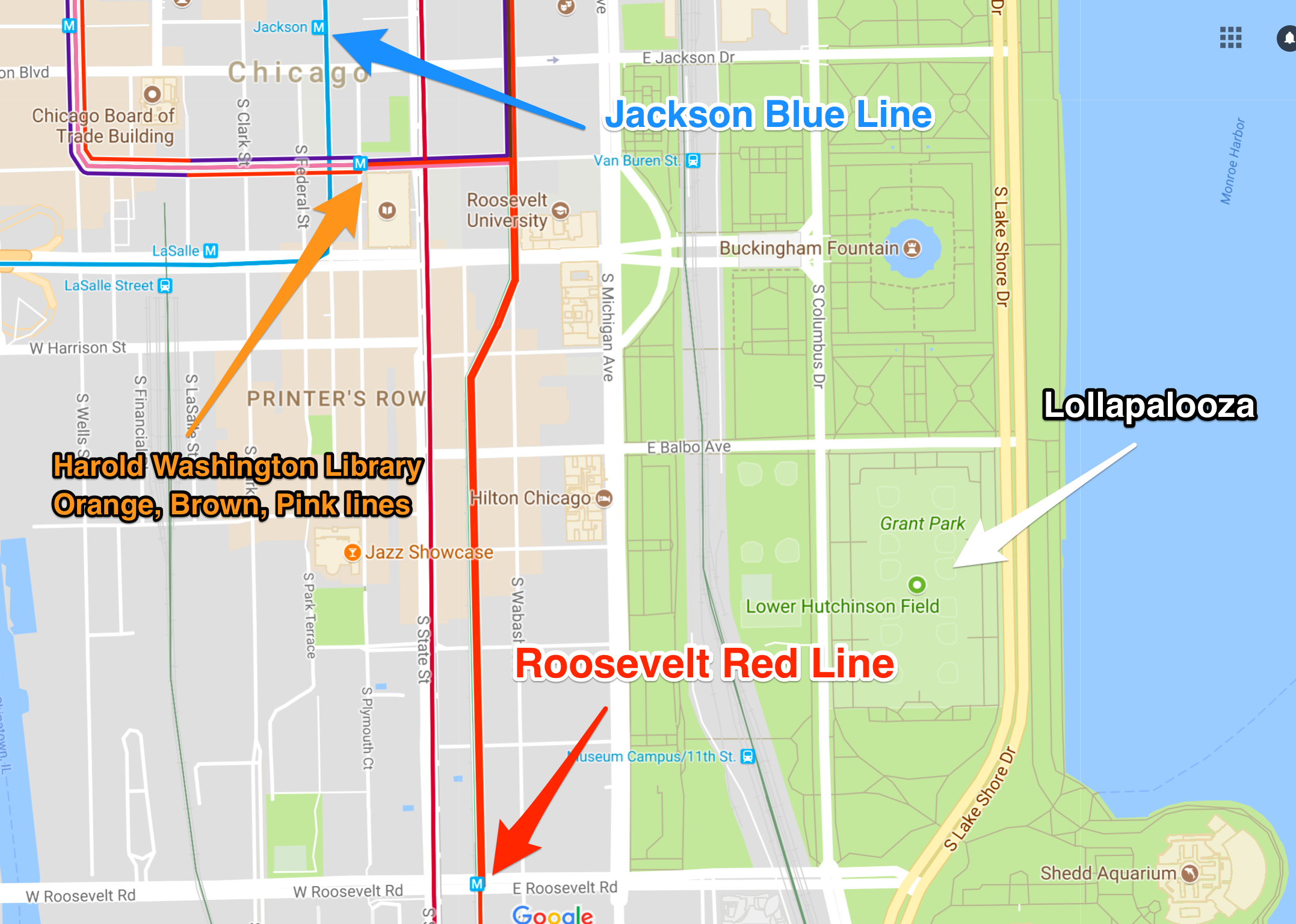 Lollapalooza 2017 How to get to and around Grant Park Curbed