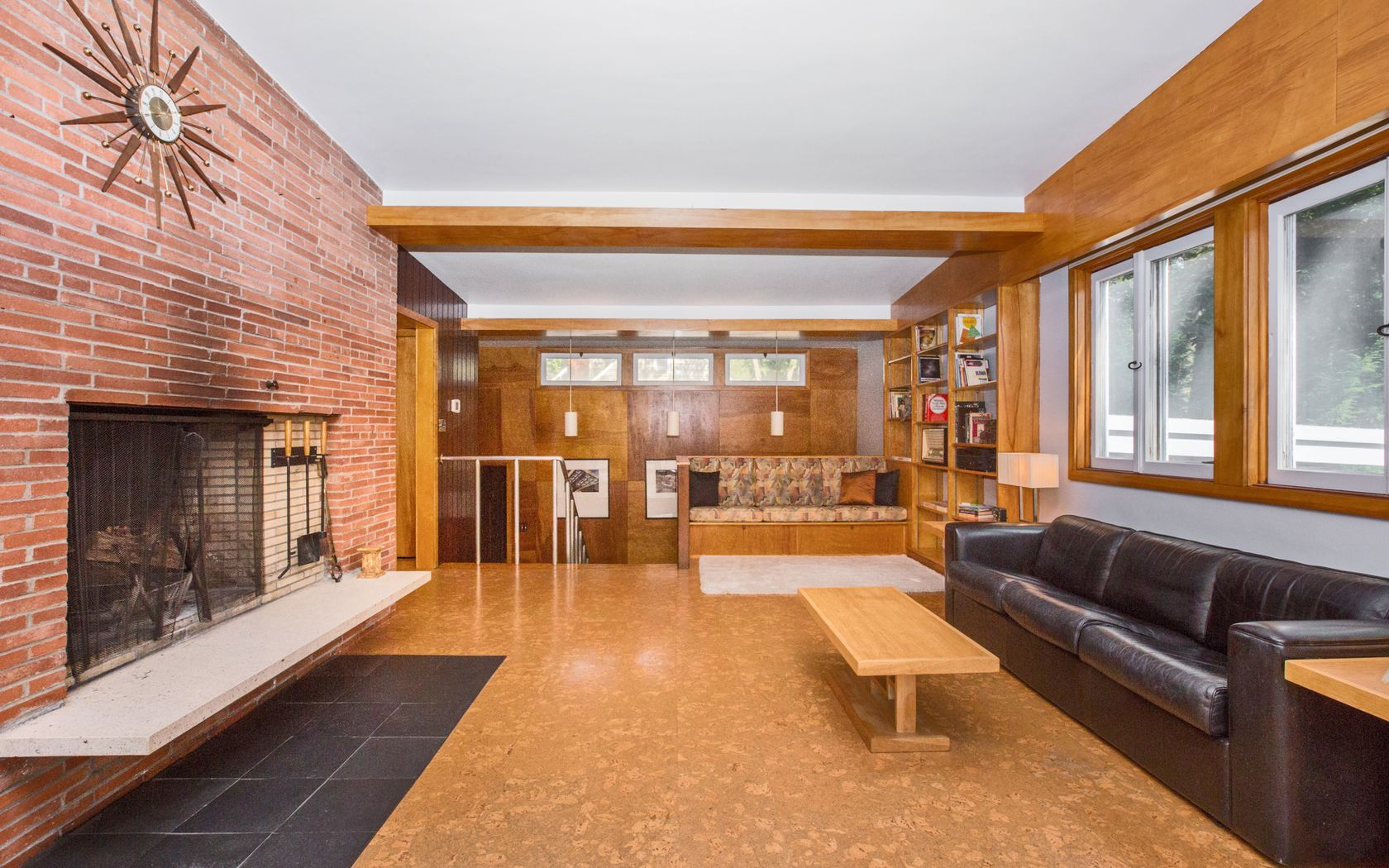 Natural Materials And Many Original Architectural Elements Are Found  Throughout The Bright House, Including Cork Floors In The Family Room, ... Part 55