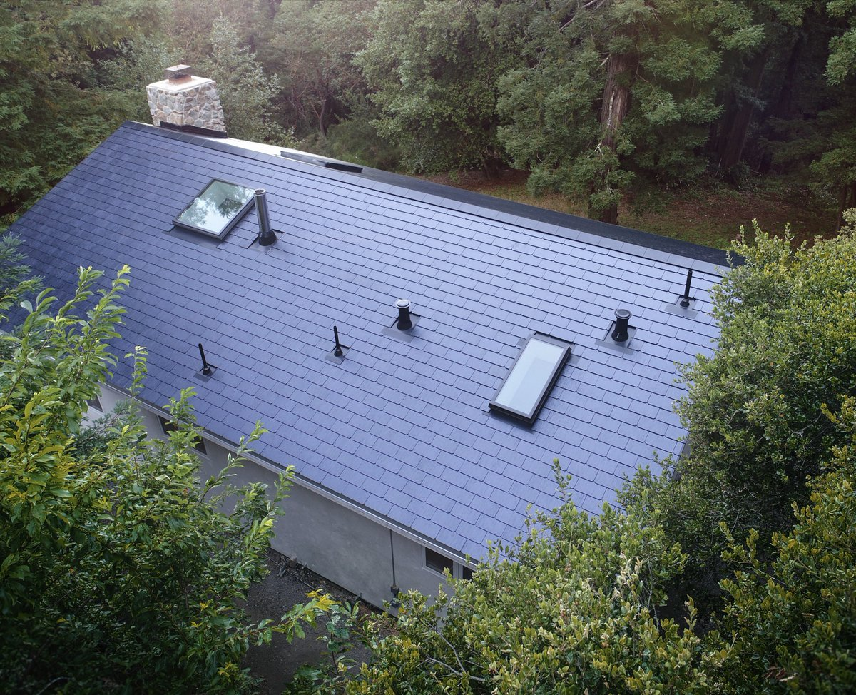 Here's what the first Tesla solar roofs look like in the wild