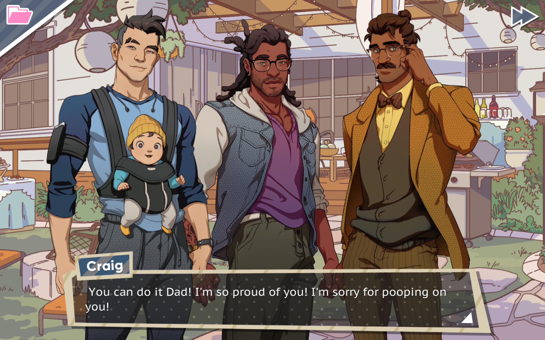 Dream Daddy: Craig, Matt, and Hugo