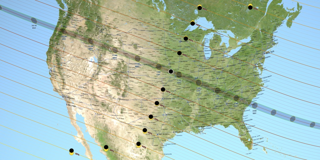 The Path Of The Total Solar Eclipse Image Nasa