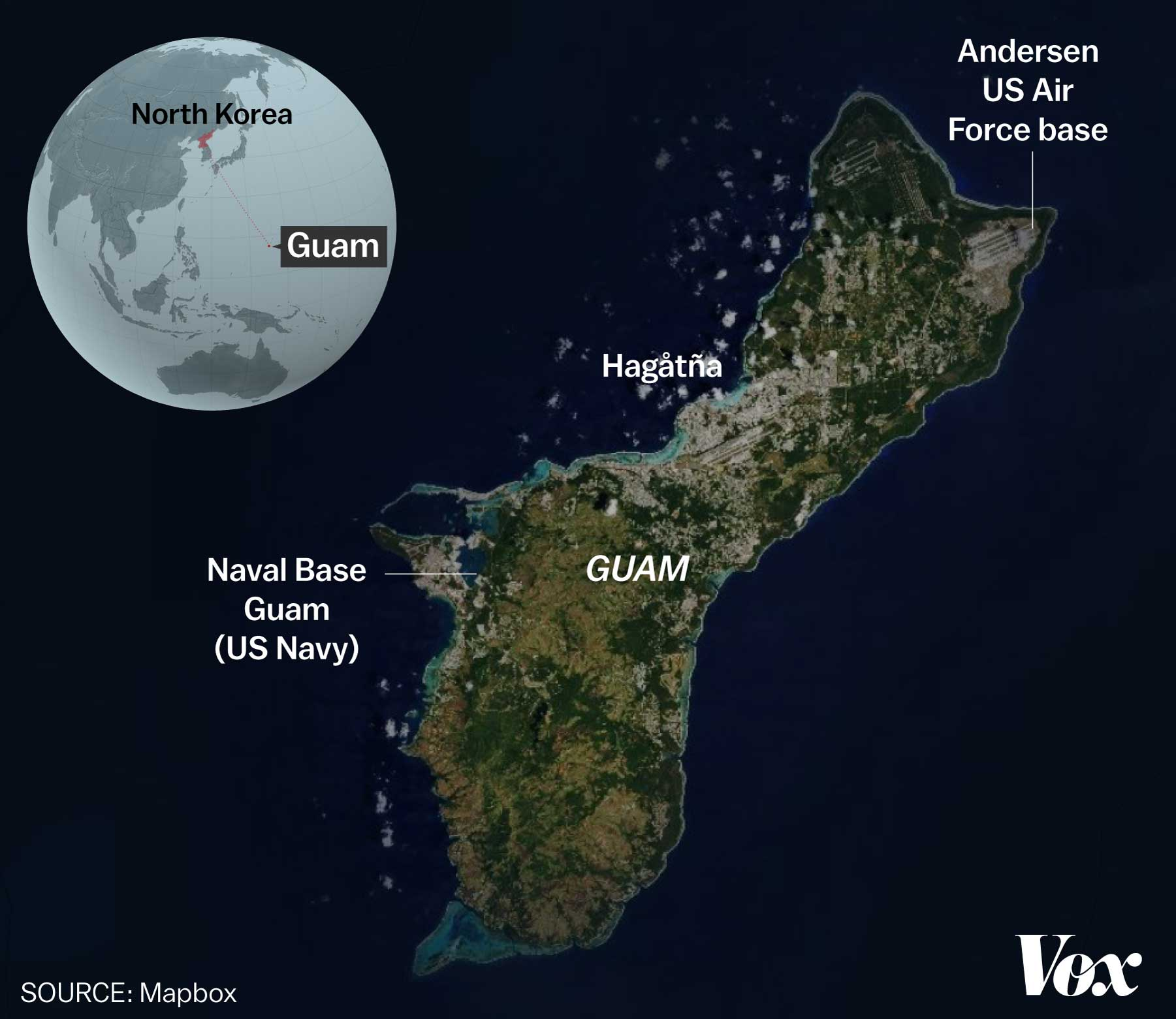 North Koreas Threat Against Guam Explained Vox - Threats to us on a map