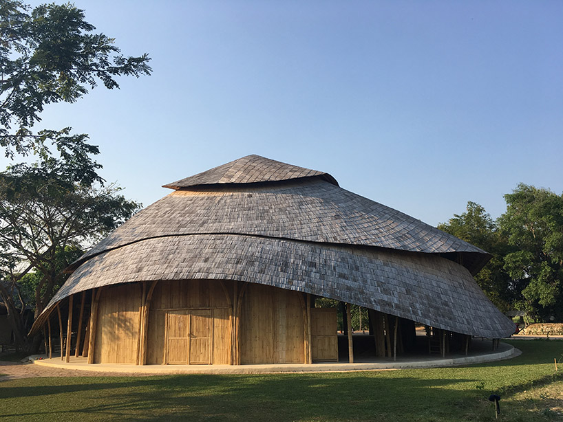 Incredible bamboo basketball court opens in Thailand