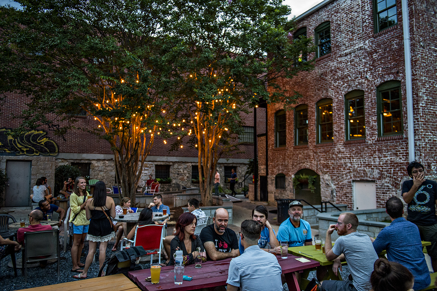georgia beer garden is a destination for local brews in sweet