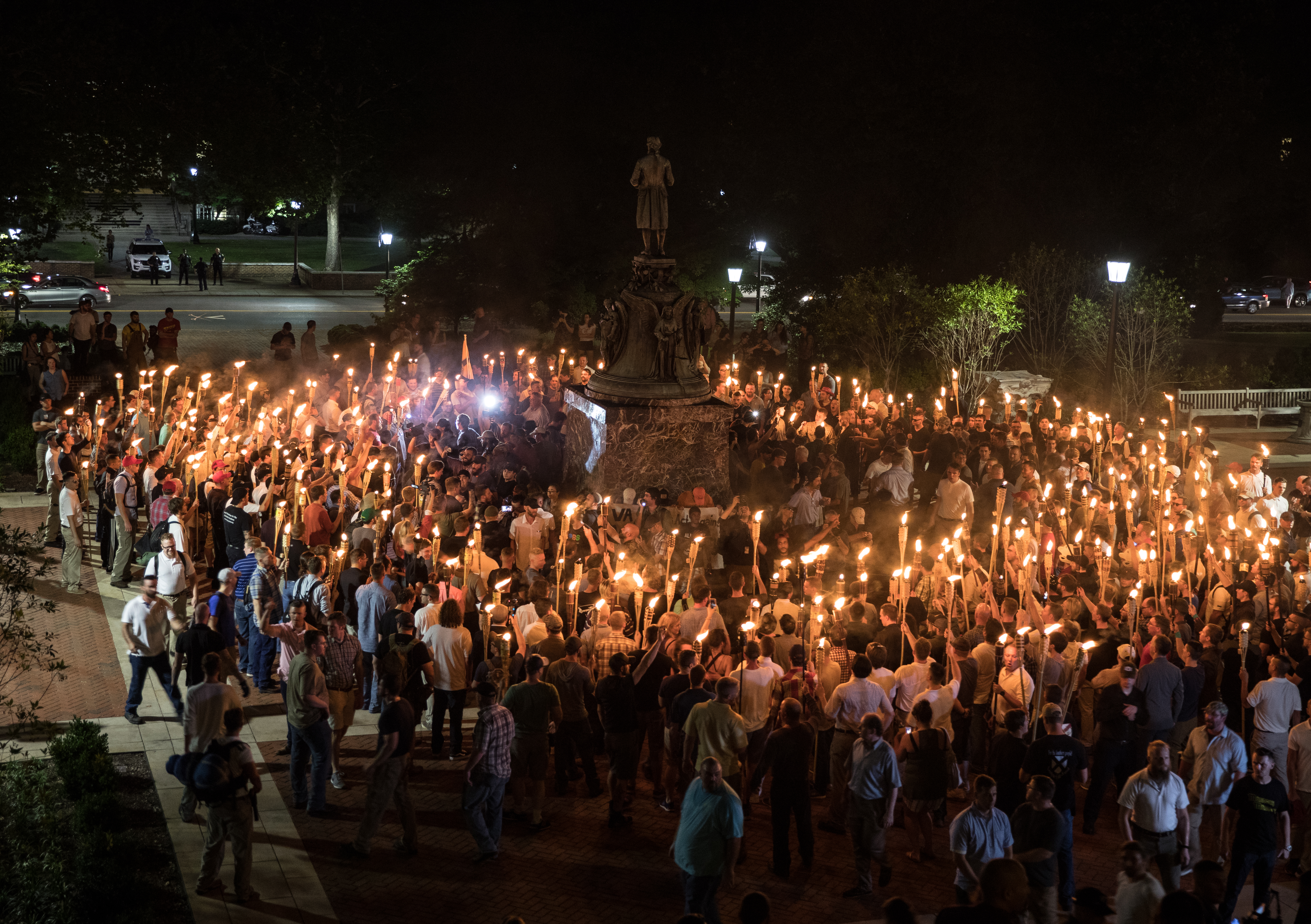 The Most Striking Photos From The White Supremacist - A map of us after white supremcists take over