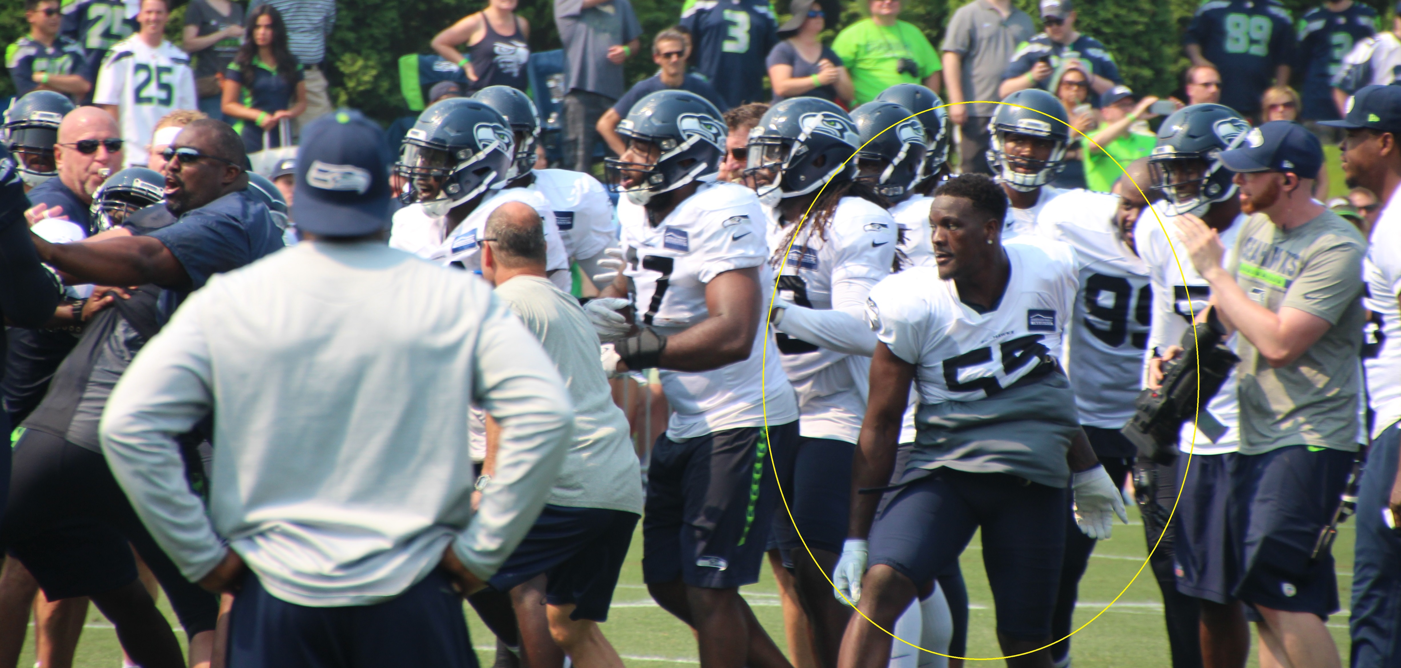 s emerge of Frank Clark s fight with Germain Ifedi in