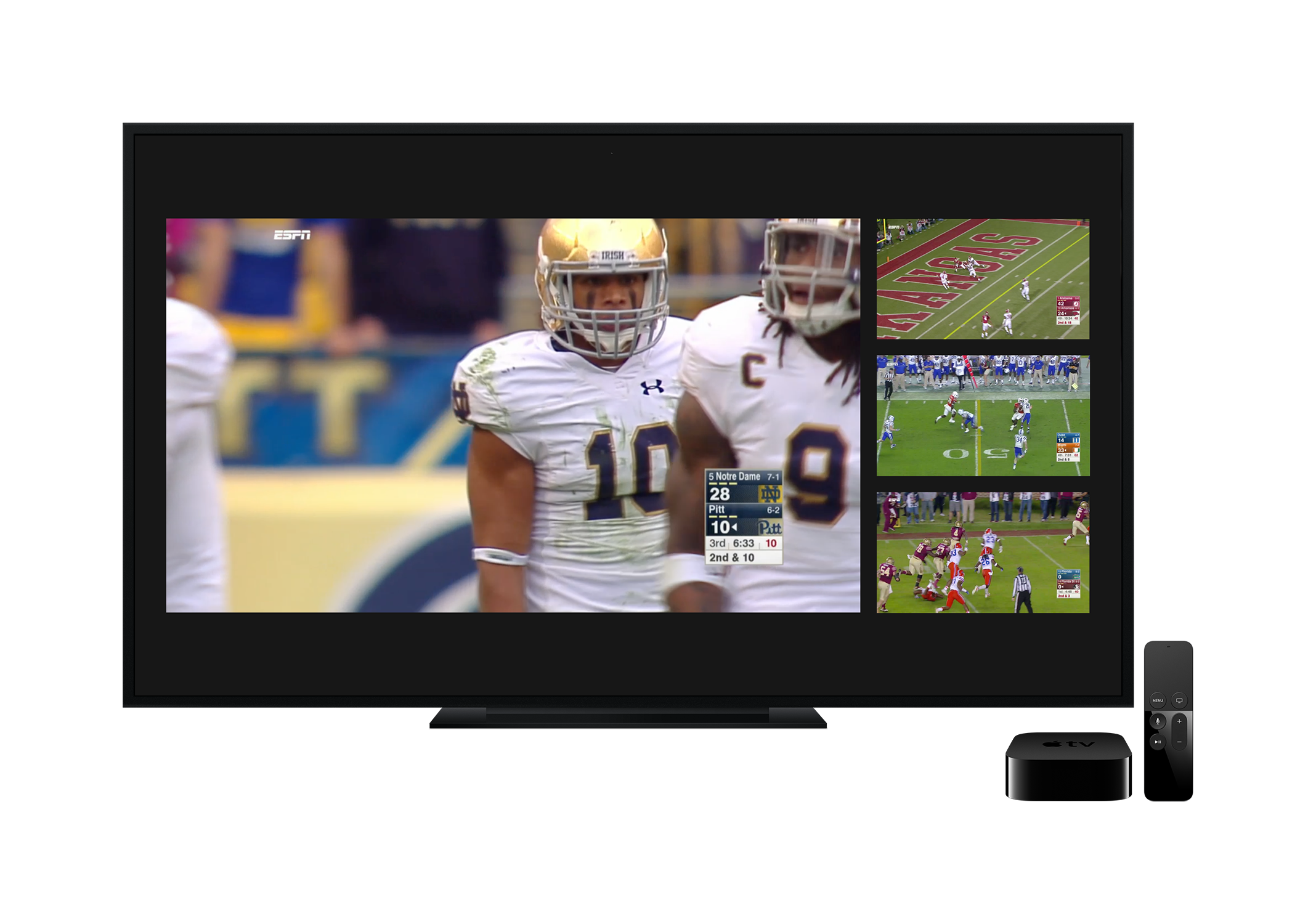 ESPN for Apple TV can now live stream four games simultaneously