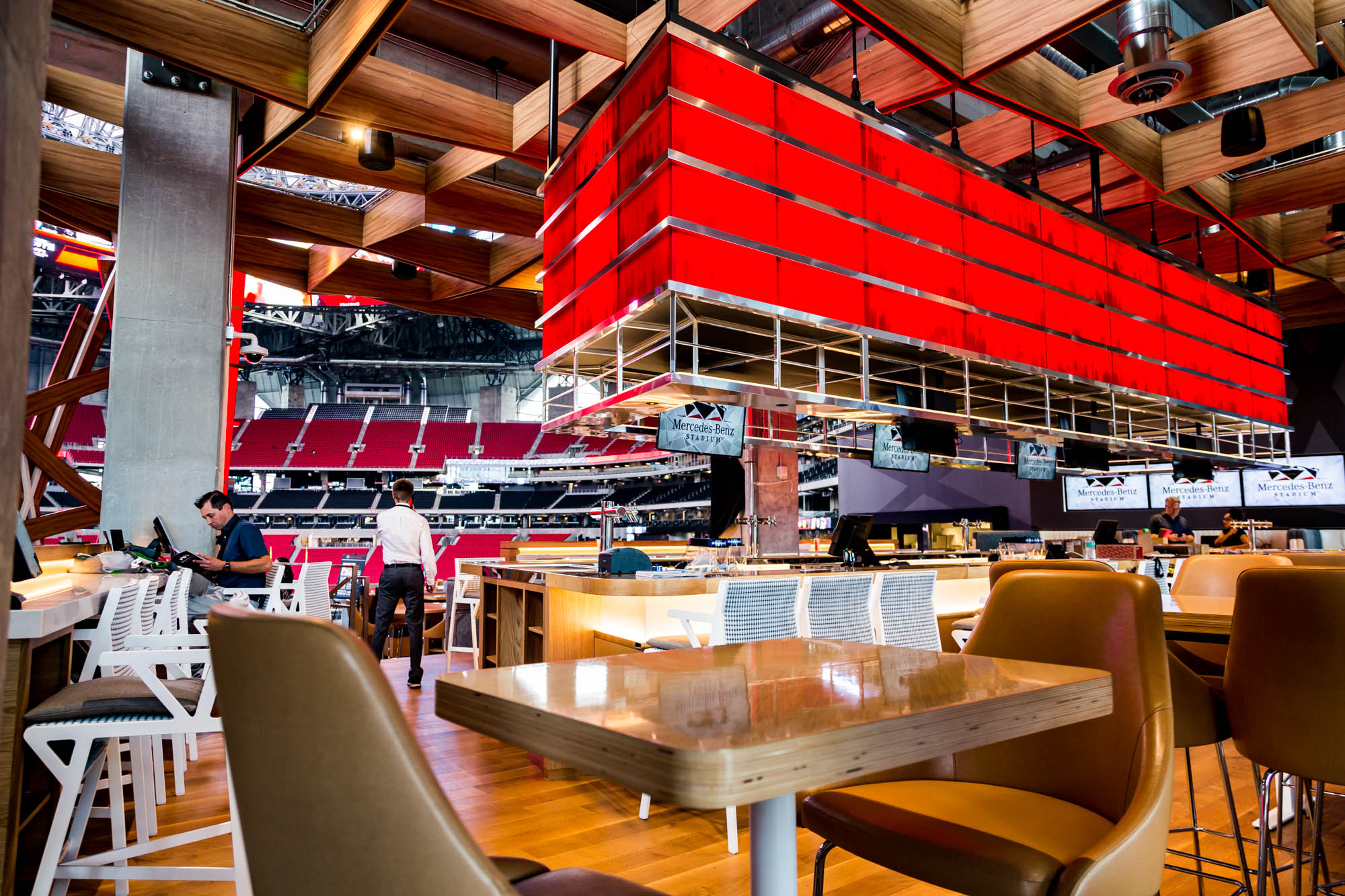 Where to eat at mercedes benz stadium home of the atlanta for Mercedes benz south atlanta service
