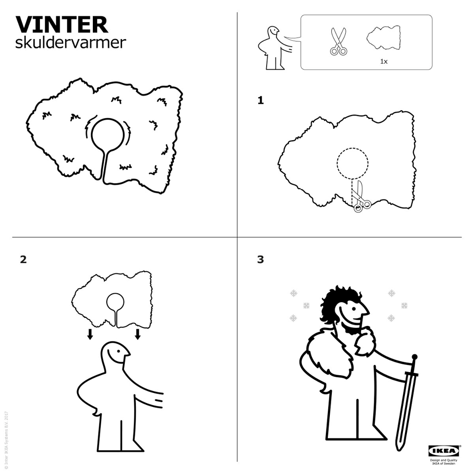 game of thrones u0027 turned ikea rugs into capes and now you can too