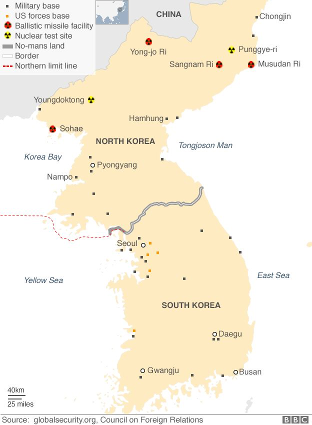 Maps That Explain North Korea Vox - Us missile silos map