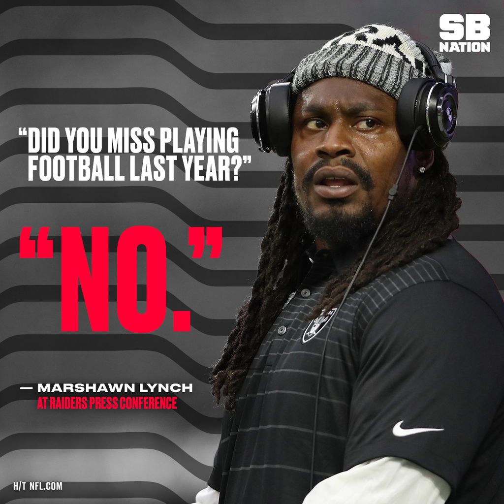 Marshawn Lynch gave the most Marshawn Lynch answer about sitting for the anthem