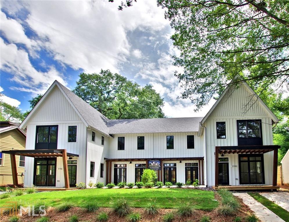 Atlanta s modern farmhouse townhome edition pops up in for Contemporary farmhouse