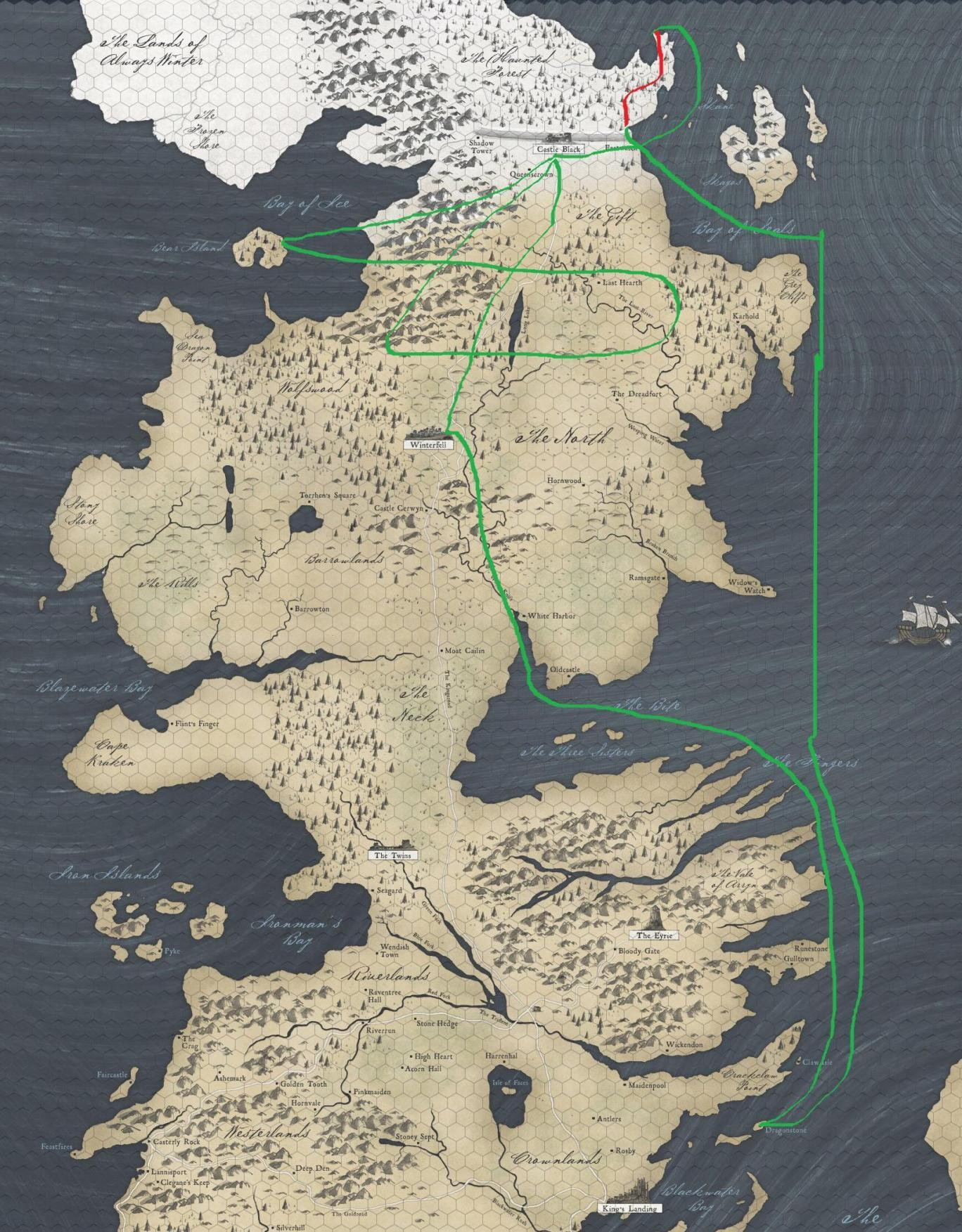 game of thrones map. game of thrones' main problem this season can be explained in a
