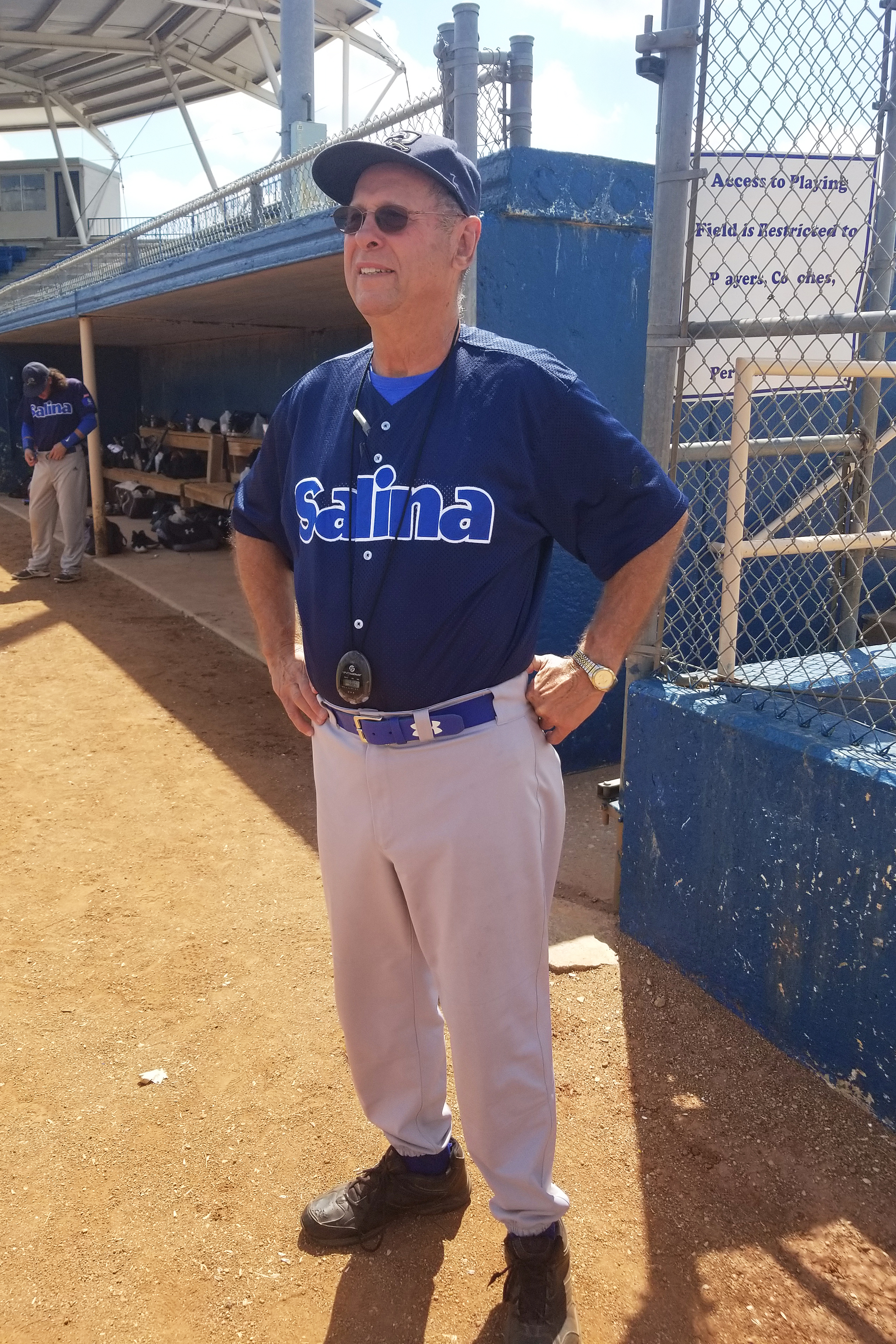 The Salina Stockade's JD Droddy before his final two games as manager