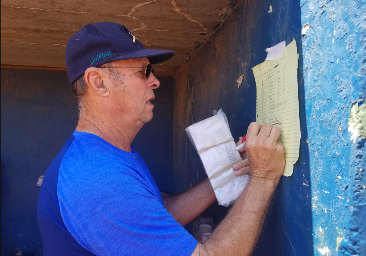 The Salina Stockade's JD Droddy posts the lineups for the doubleheader