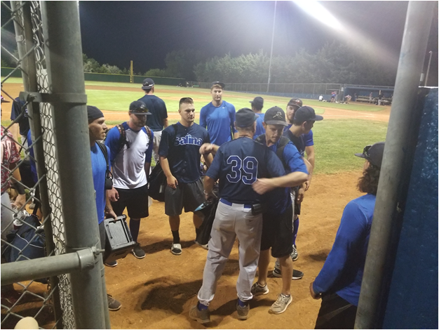 JD Droddy's farewell from the team after his last game as manager of the Salina Stockade