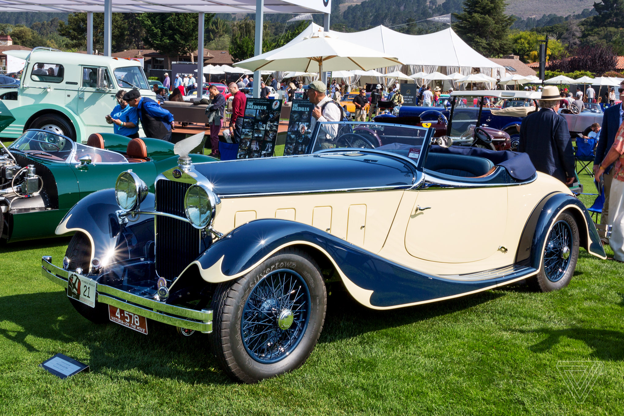 America\'s most important luxury car show - The Verge