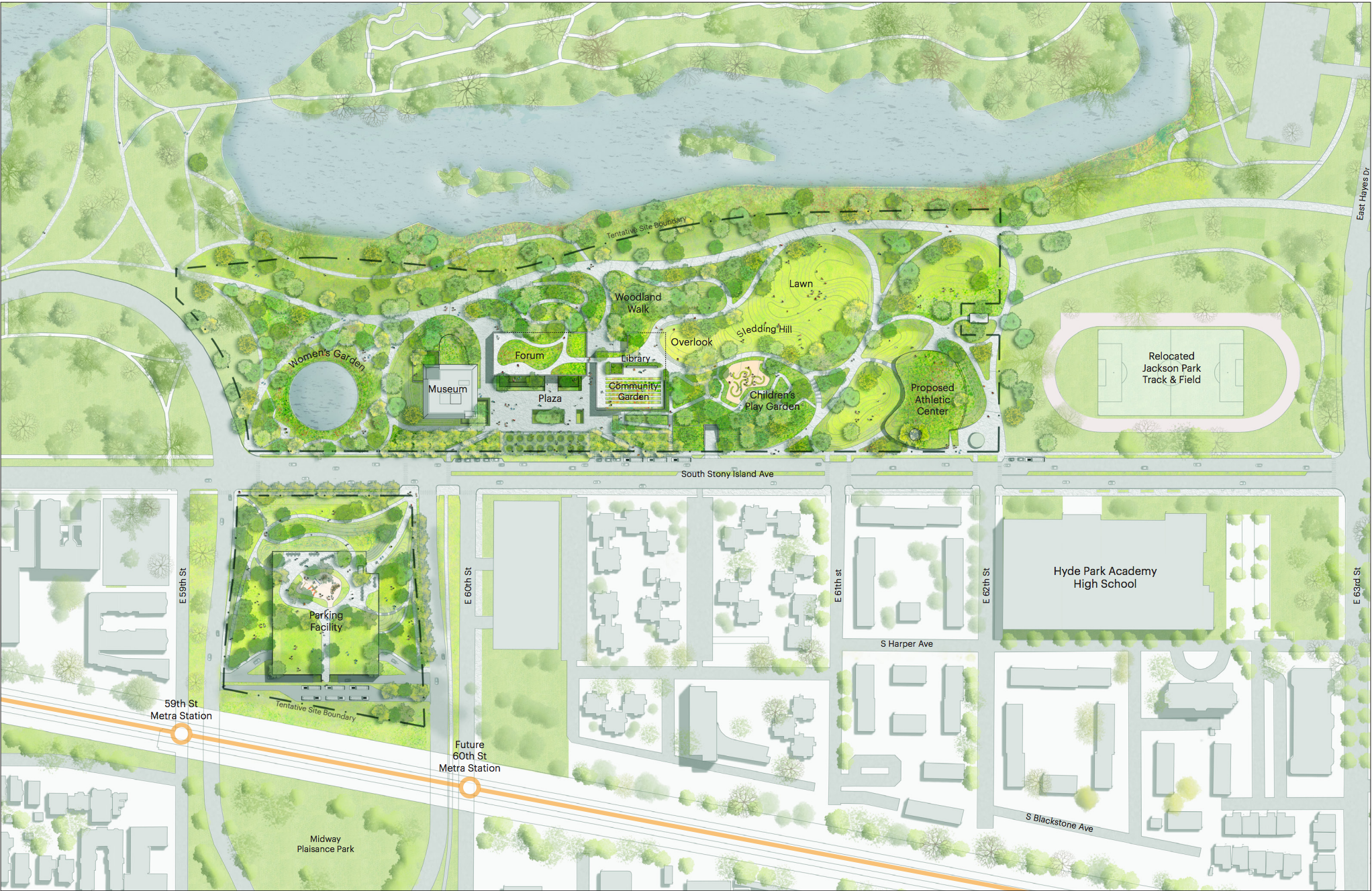 here u0027s the latest site plan for the obama presidential center