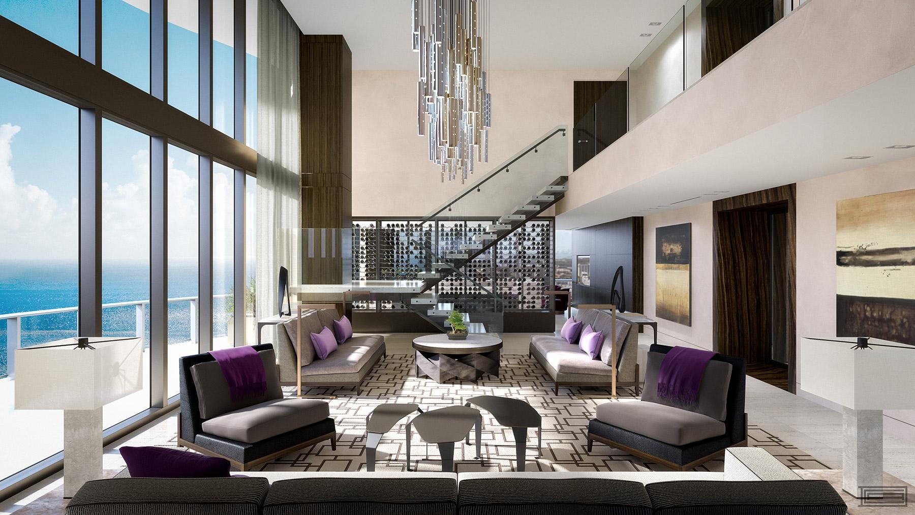 Regalia Miami penthouse asks $39M, includes $500K pink diamond