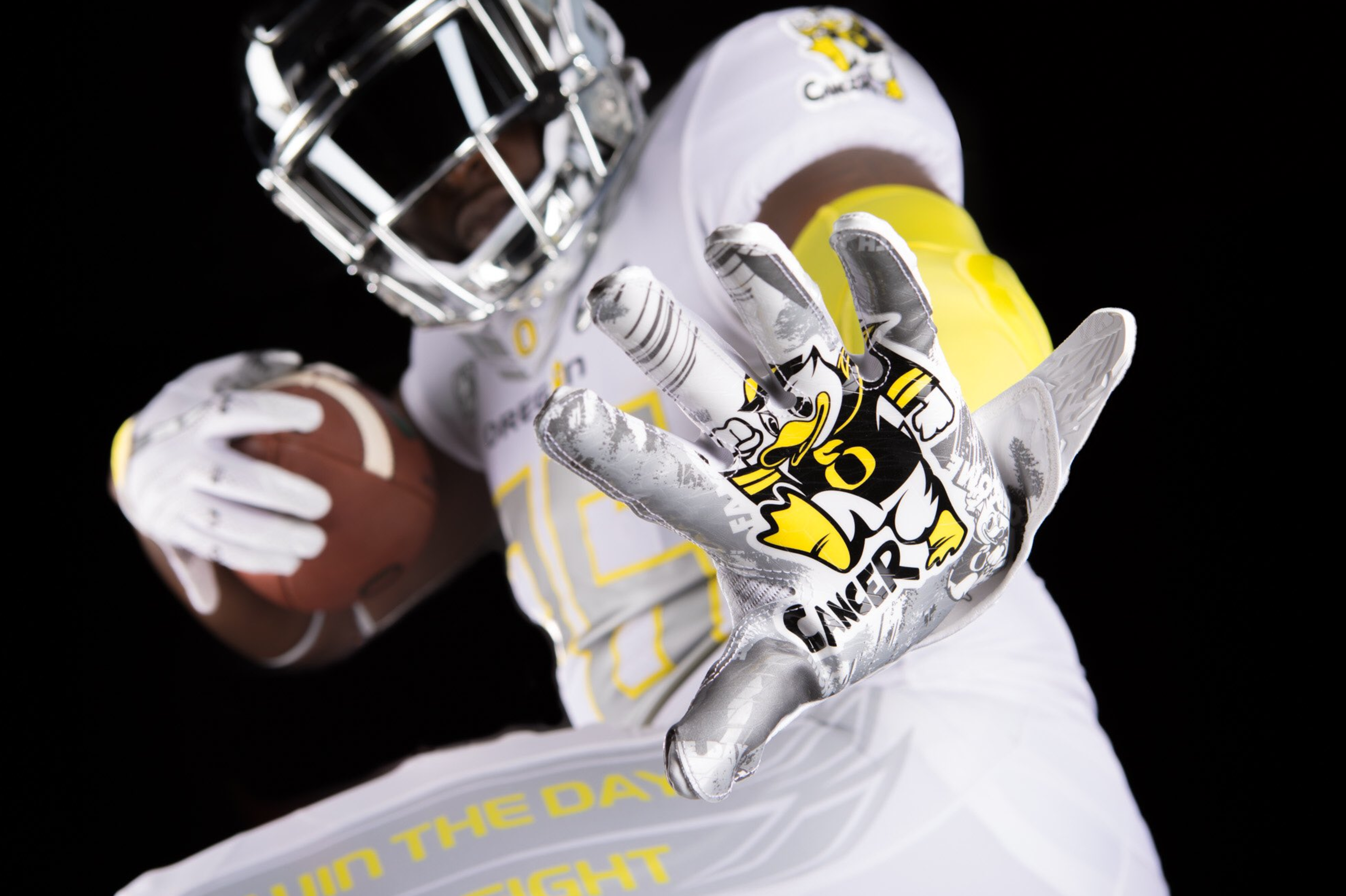 Oregon Will Wear 'Stomp Out Cancer' Uniforms Designed by Cancer Patients