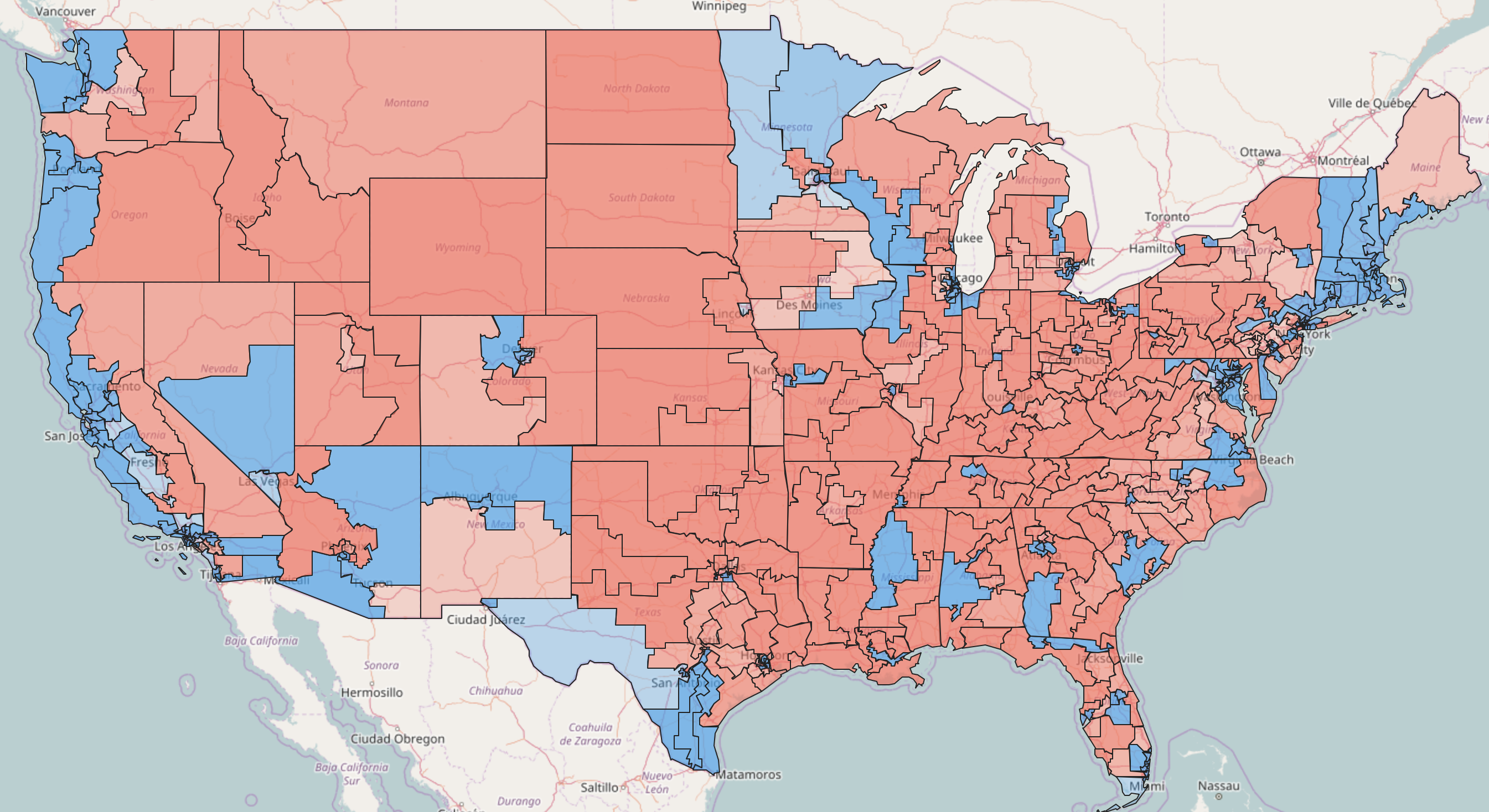 Democrats  Gerrymandering Problem Is Really Bad Vox - Political map 2018 us house