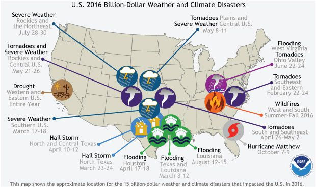 And If You Compare This To The Billion Dollar Disaster Map From 2015 It S Even Worse Parts Of Houston That Had Been Flooded In A May 2015 Event Were