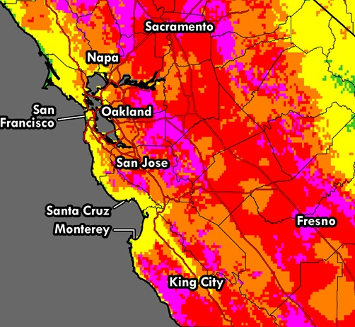 Bay Area weather Excessiveheat warning still in effect Curbed SF