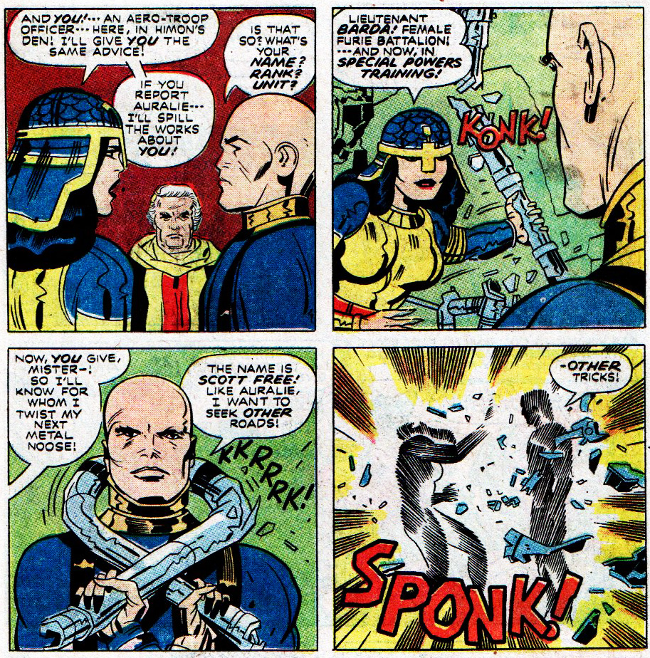 Big Barda and Scott Free in Mister Miracle.