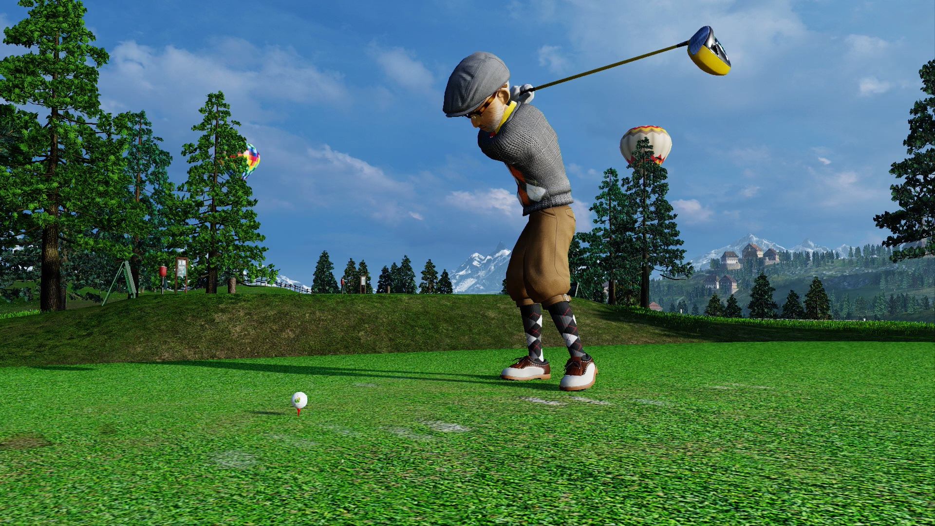 everybody 39 s golf is a surreal swingin sports spectacle. Black Bedroom Furniture Sets. Home Design Ideas