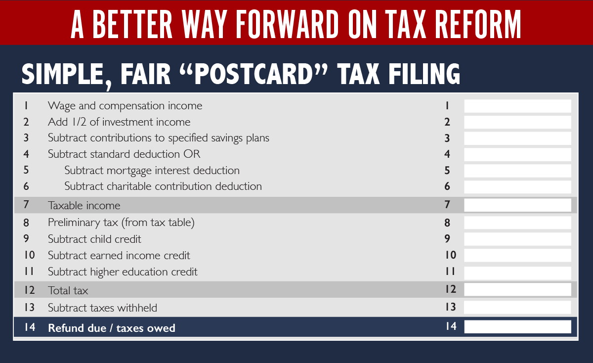 Paul ryans postcard tax return is really dumb vox but there are two main issues falaconquin