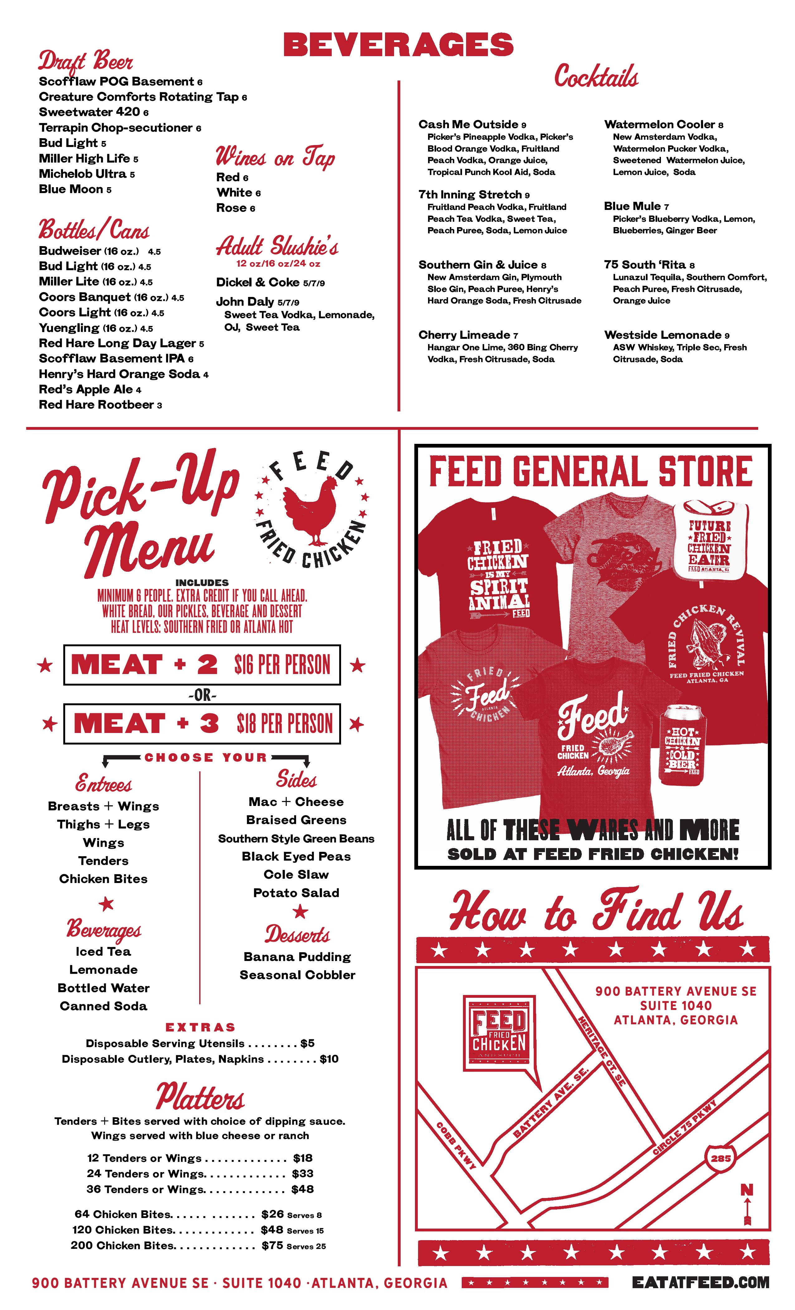 Feed Fried Chicken Is Open at The Battery Heres the Menu Eater – Menu