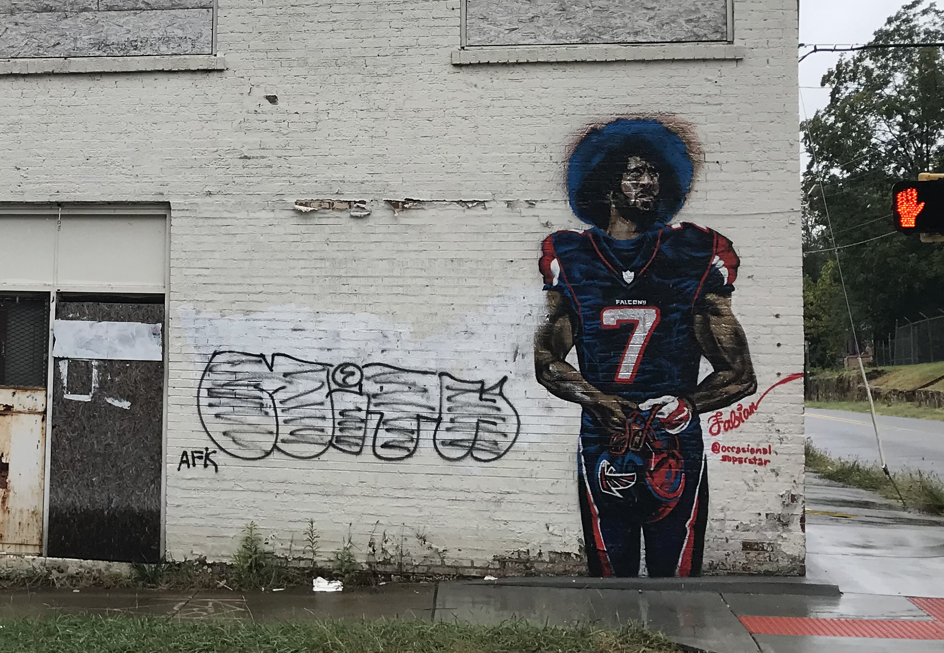 The artist behind the colin kaepernick mural explains why for Atlanta mural artist