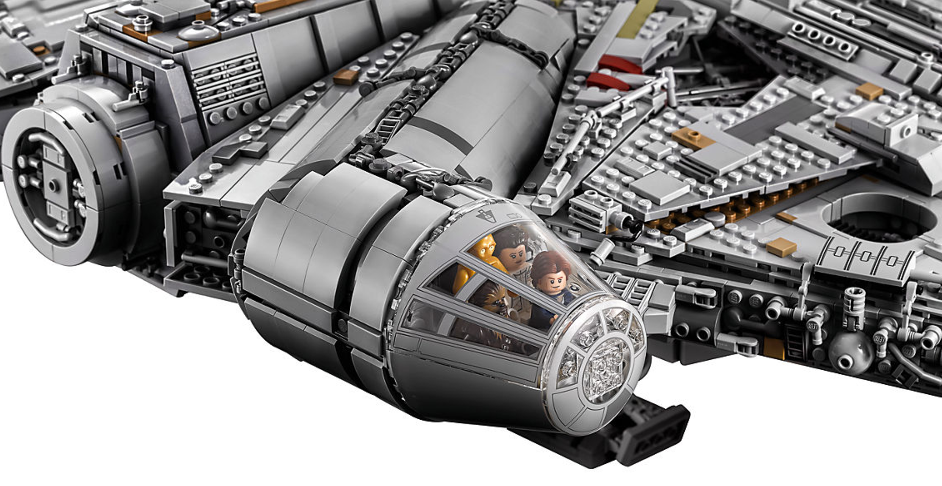 The new 7 541 piece lego millennium falcon is the biggest for Interieur faucon millenium