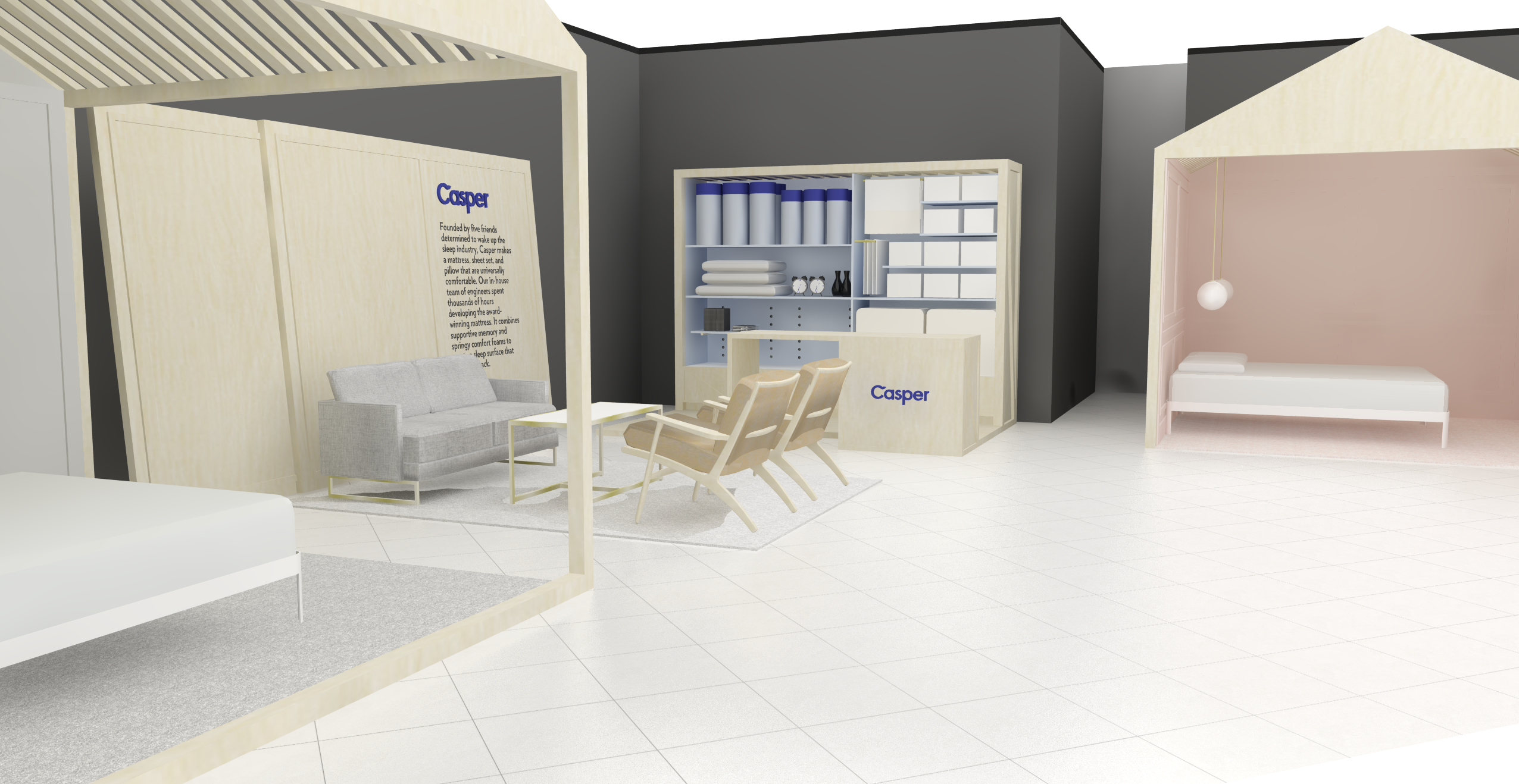 casper pop up stores will open across north america curbed. Black Bedroom Furniture Sets. Home Design Ideas
