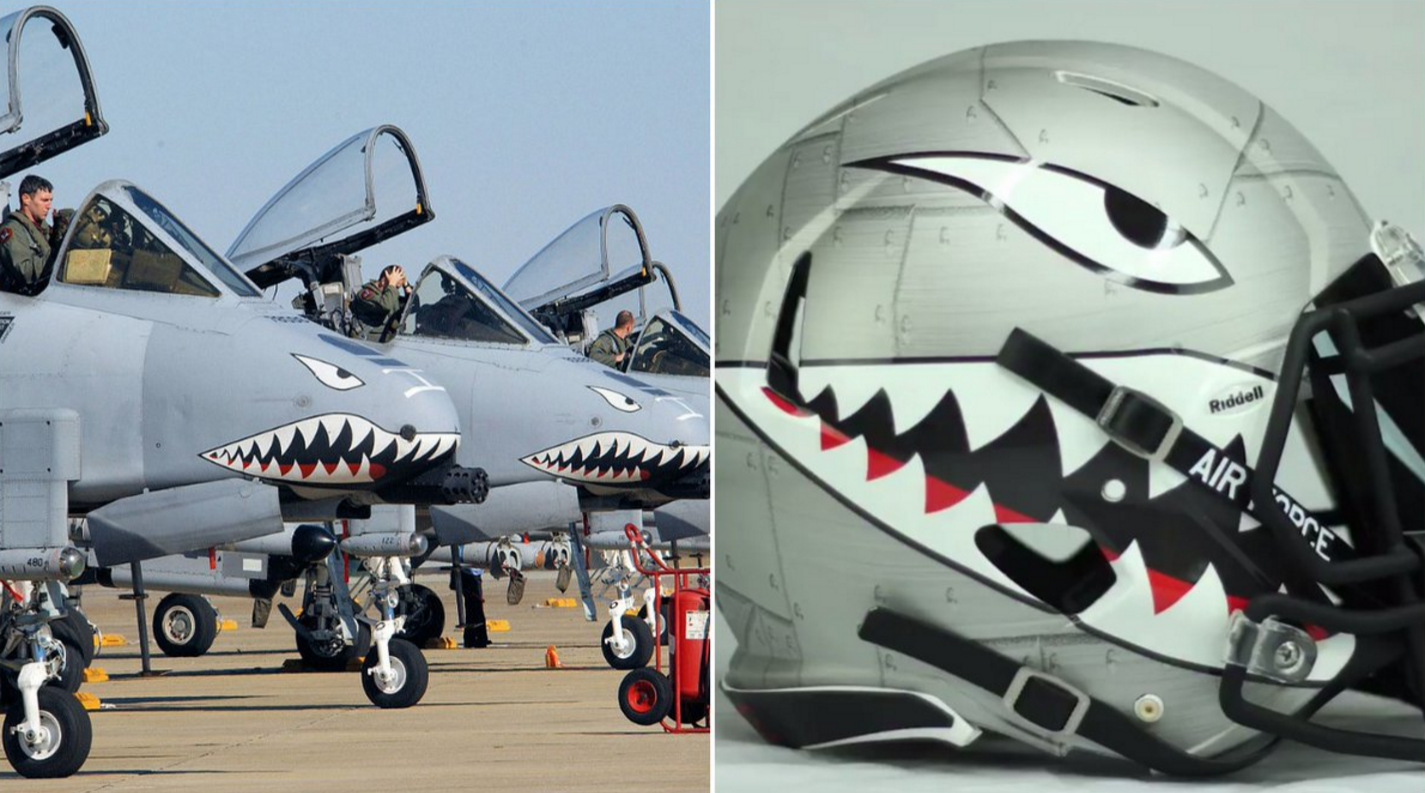 air force new football helmets look like f 35 pilots u0027 in flight