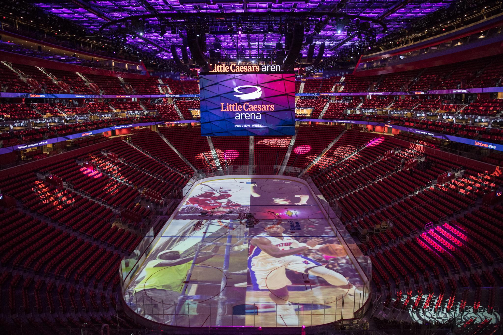 Little Caesars Arena Tour Detroits newest sports venue Curbed