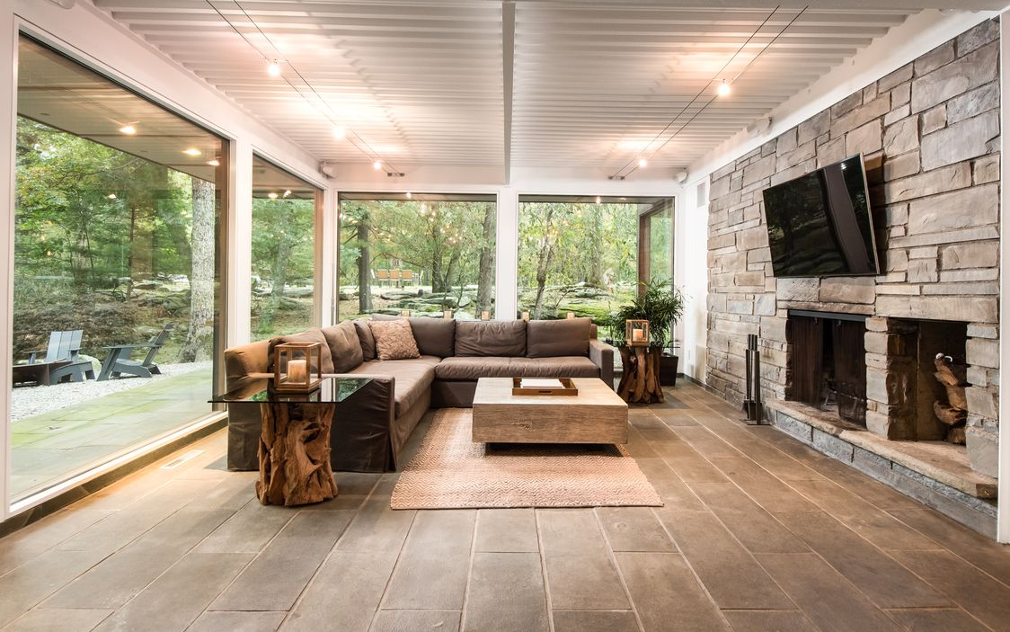 glass and stone midcentury on 5 acres asks 2 3m in pound ridge
