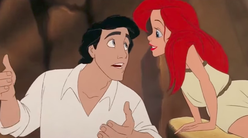 Prince Eric and Ariel in The Little Mermaid