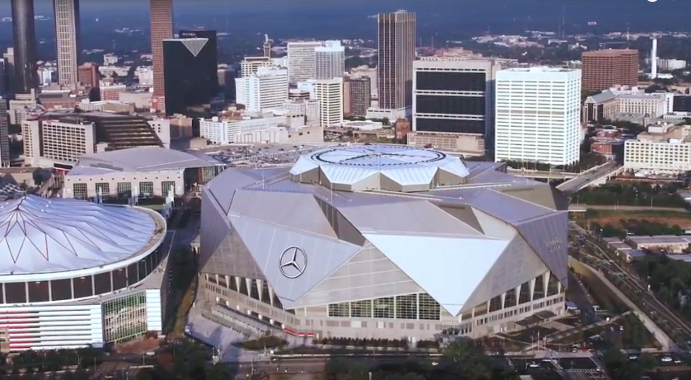 Mercedes benz stadium s roof will now be open for national for Mercedes benz stadium opening