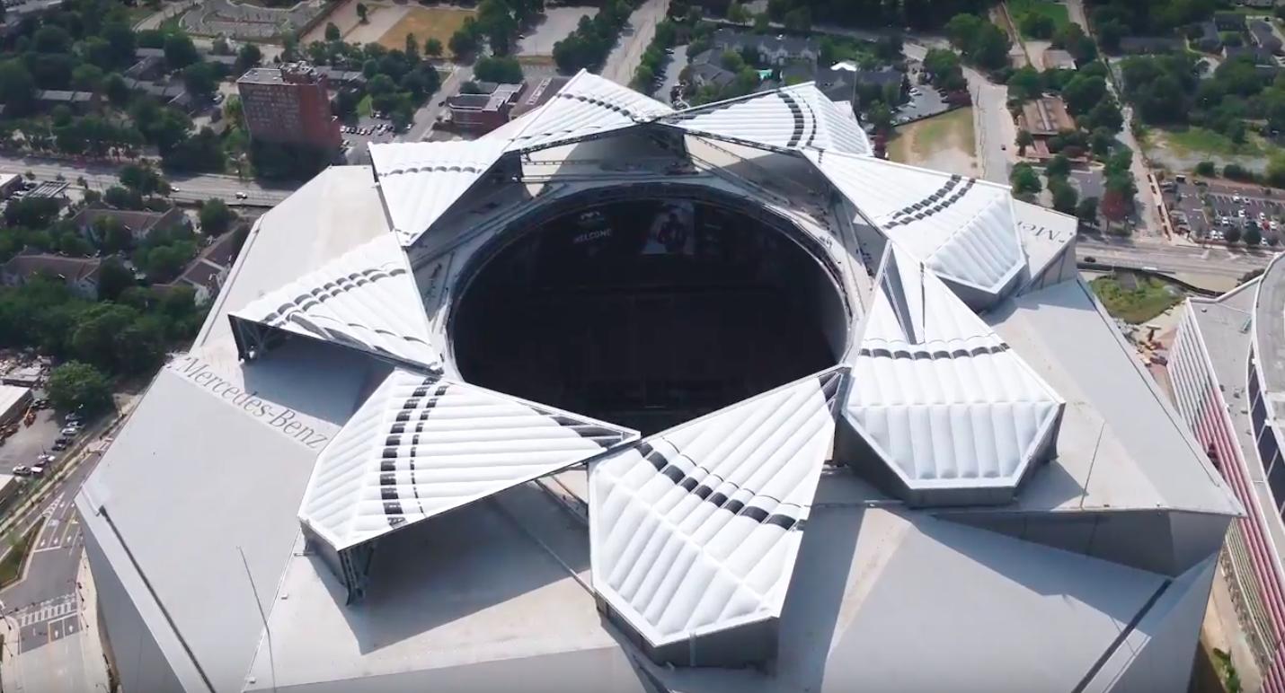 Mercedes benz stadium s roof will now be open for national for Mercedes benz stadium roof