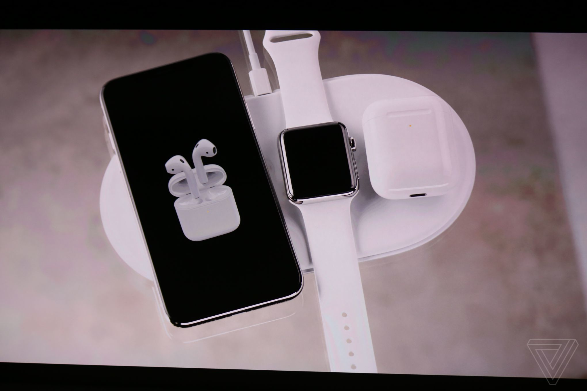 apple 39 s airpower wireless charging mat can charge an. Black Bedroom Furniture Sets. Home Design Ideas