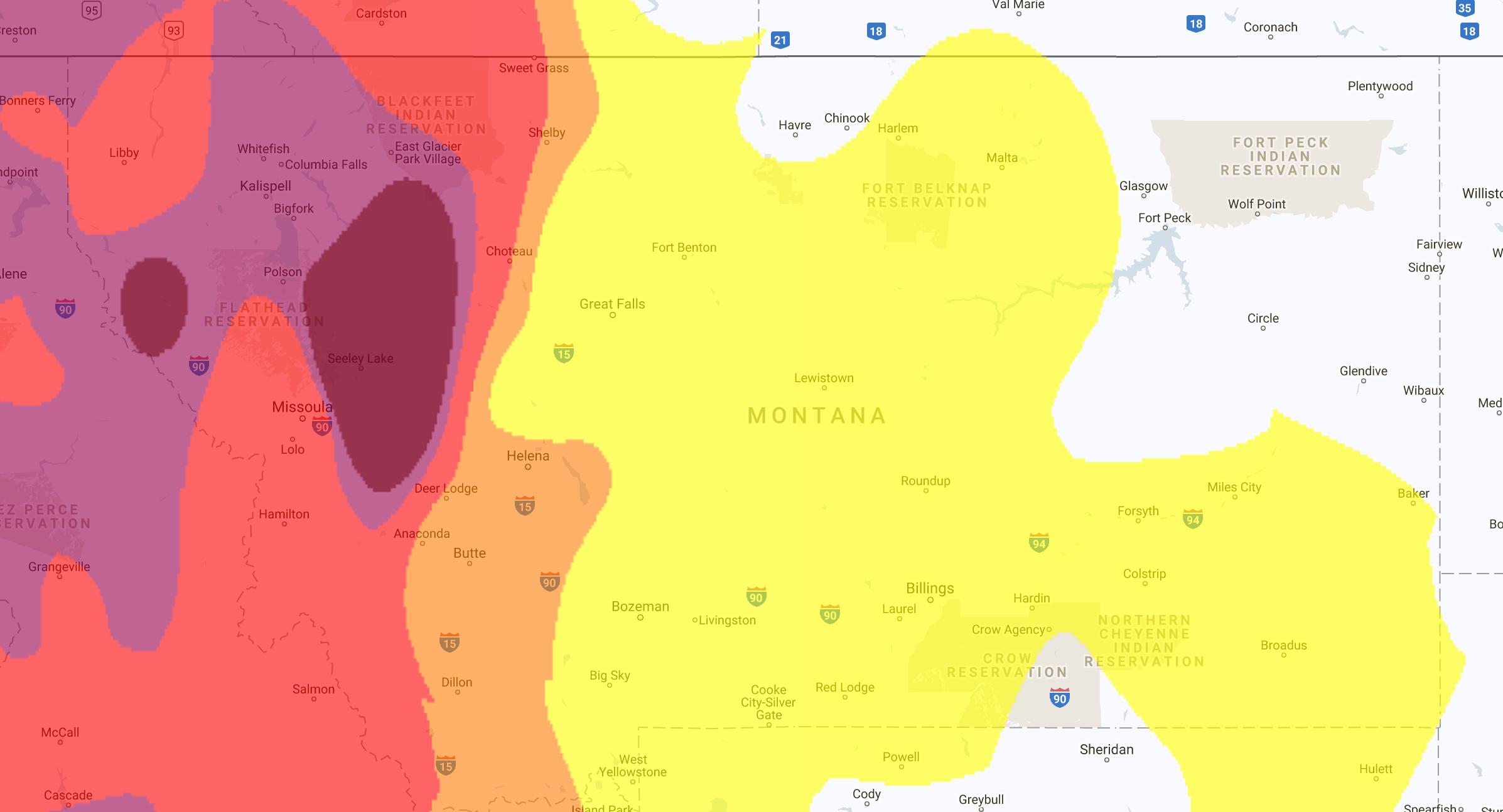 Air Pollution Maps Of The United States NextBigFuturecom