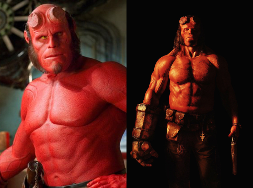 Check out the first look at David Harbour in costume as Hellboy