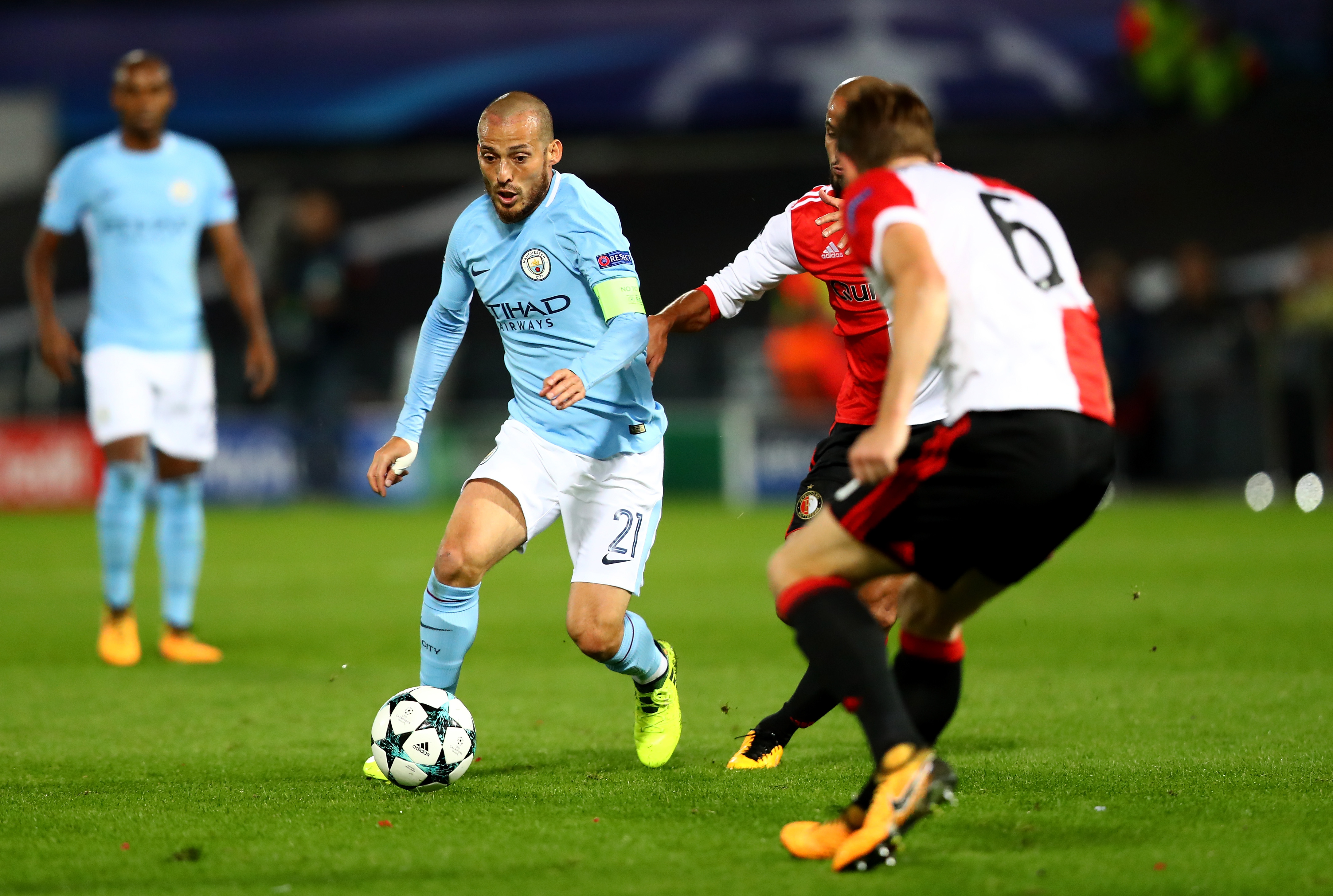 Image result for david silva manchester city vs napoli 2017/18